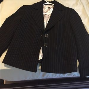Tahari striped suit